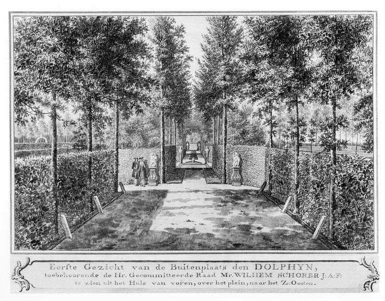Middelburg Dolphyn - 1e gezicht - tekening Jan Arends 1772 - HET01