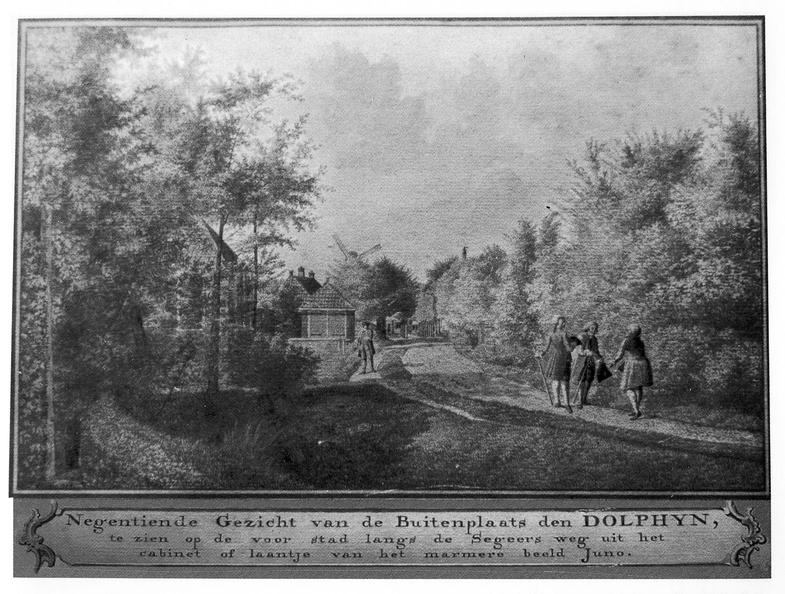 Middelburg Dolphyn - 19e gezicht - tekening Jan Arends 1774 - HET01