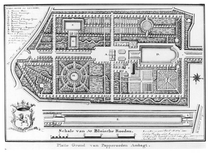 Middelburg Poepenrode Ambacht - plattegrond door JJ de Freytag Luit 1772 - HET01