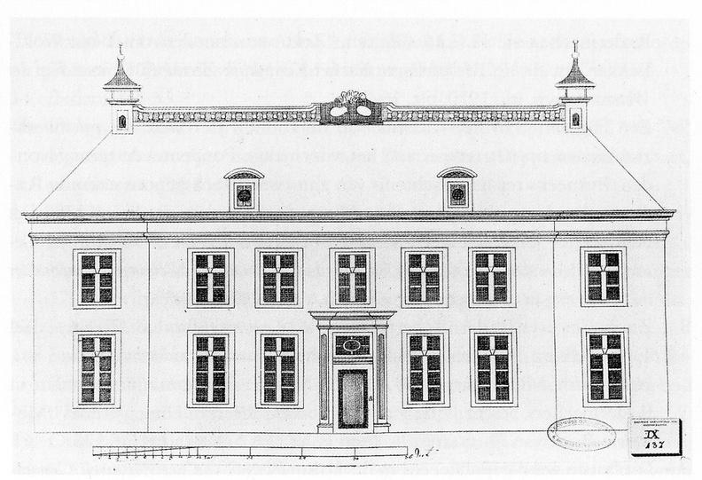 Middelburg Poppenroede - opmeting voorgevel - tekening begin 19e eeuw - JAN01
