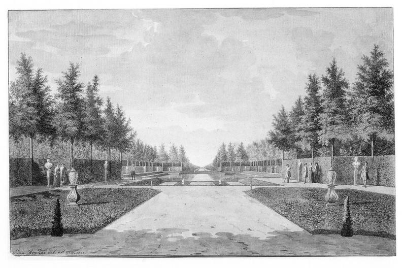 Middelburg Poppenroede Ambacht - hoofdas - tekening Jan Arends 1771 - HET01