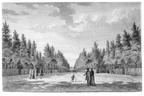 Middelburg Poppenroede Ambacht - oprijlaan - tekening Jan Arends 1771 - HET01