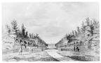 Middelburg Poppenroede Ambacht - oprijlaan 2 - tekening Jan Arends 1771 - HET01