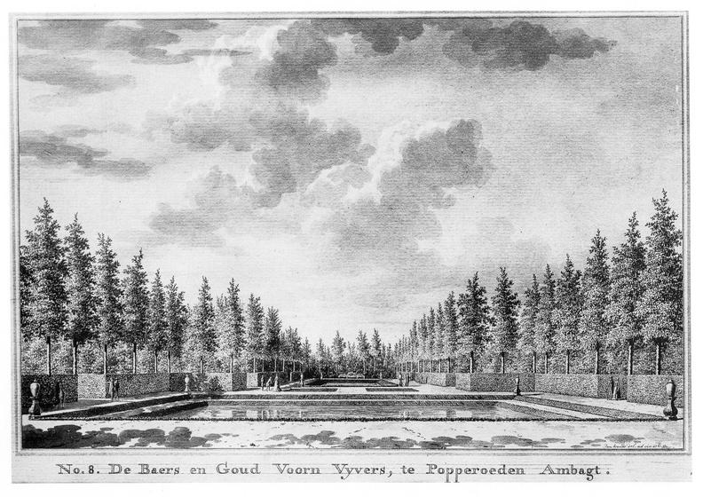 Middelburg Poppenroede Ambacht - tuin 2 - tekening Jan Arends 1771 - HET01
