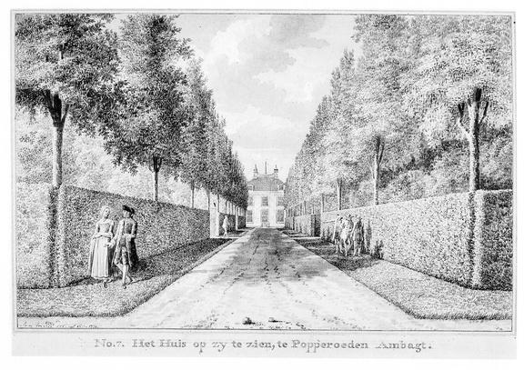 Middelburg Poppenroede Ambacht - zijkant - tekening Jan Arends 1771 - HET01