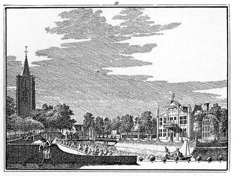 Oostkapelle - gravure door H Spilman naar tekening C Pronk, 1743 - JAN01
