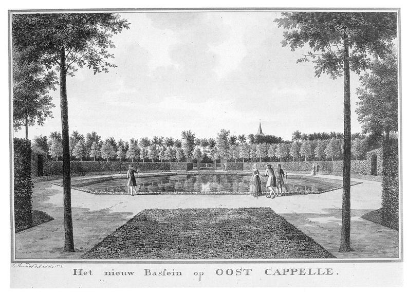 Oostkapelle - nieuwe vijver - tekening Jan Arends 1772 - HET01