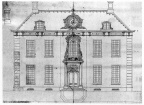 Oostkapelle - ontwerp voorgevel - tekening, ca 1750 - JAN01