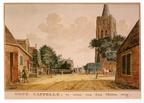 Oostkapelle - overzicht - tekening Jan Arends 1772 - HET01