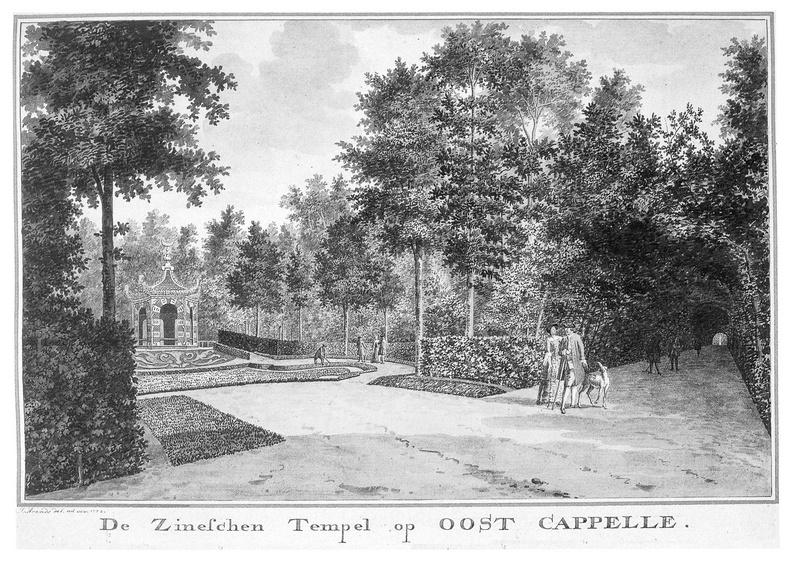 Oostkapelle - tempel - tekening Jan Arends 1772 - HET01