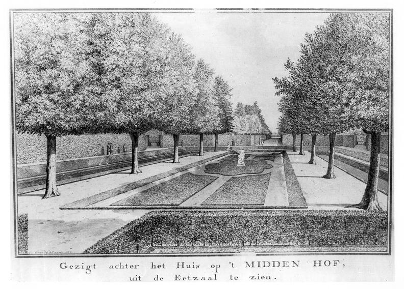 Oostkapelle Middenhof - parterre - tekening Jan Arends 1772 - HET01