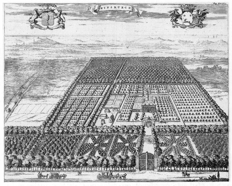 Oostkapelle Rijnsburg - gravure uit M Smallegange, 1696 - JAN01