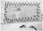 Oostkapelle Rijnsburg - huis van de heer Valckensteyn - plattegrond - JAN01