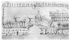 Oostkapelle Rijnsburg - huis van de heer Valckensteyn - tekening - JAN01