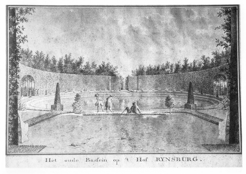 Oostkapelle Rijnsburg - oude vijver - tekening Jan Arends 1772 - HET01