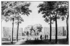 Oostkapelle Rijnsburg - ronde bassin - tekening C Pronk, ca 1743 - JAN01