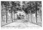 Oostkapelle Rijnsburg - voorzijde - tekening Jan Arends 1772 - HET01