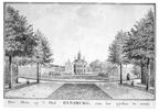 Oostkapelle Rijnsburg - zijkant - tekening Jan Arends 1772 - HET01
