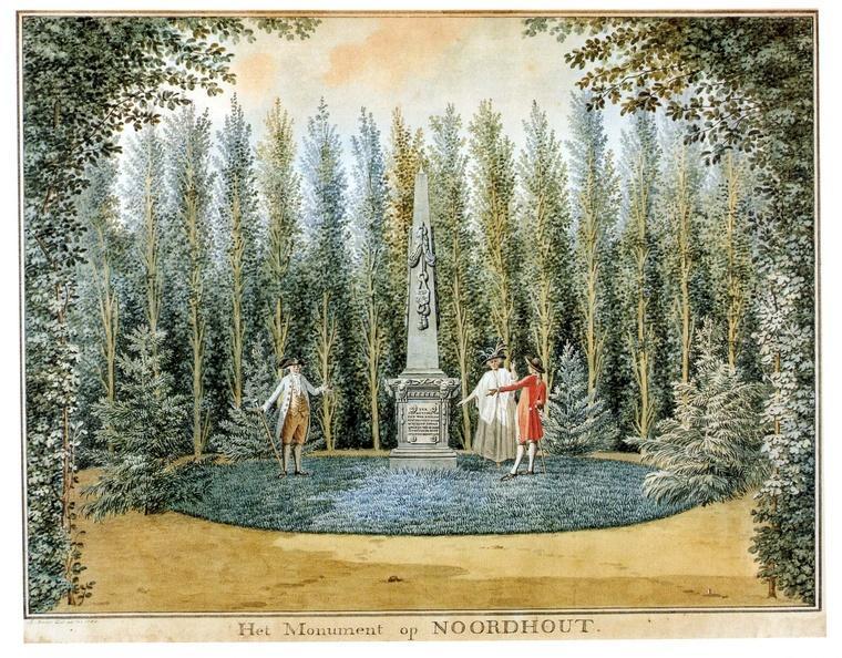 Serooskerke Noordhout - monument - tekening Jan Arends 1788 - HET01