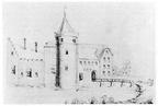 Serooskerke Noordhout - tekening uit K van Alkemade en P van der Schelling, ca 1700 - JAN01