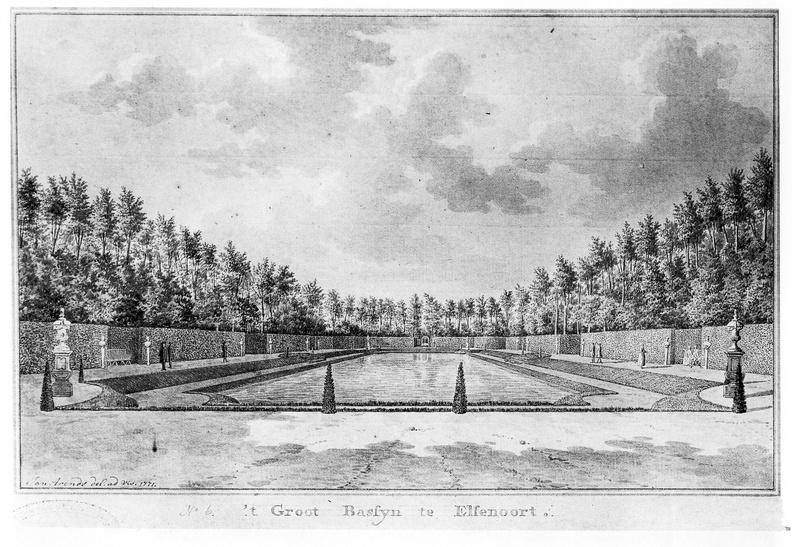 Vrouwenpolder Elsenoort - grote vijver - tekening Jan Arends 1771 - HET01