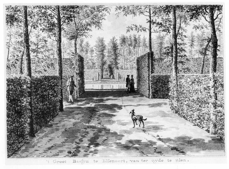 Vrouwenpolder Elsenoort - grote vijver 2 - tekening Jan Arends 1771 - HET01