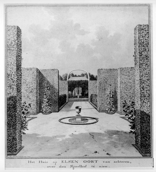 Vrouwenpolder Elsenoort - tekening Jan Arends 1772 - HET01