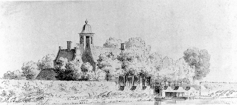 Amstelhoek Ter Schelling - tekening Cornelis Pronk 1733 - DE1