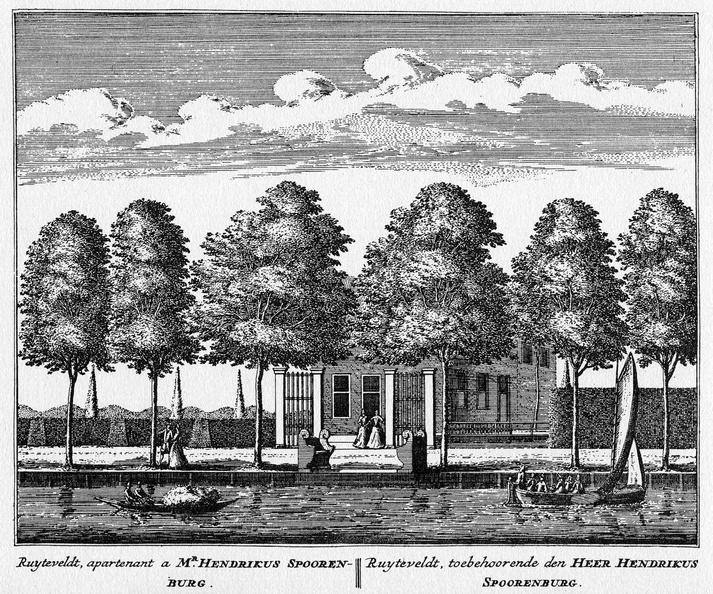 Baambrugge-Ruyteveldt - ets Abraham Rademaker, 1730 - HOL1