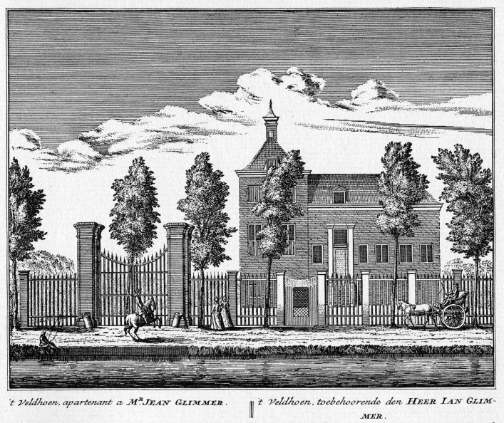 Baambrugge-Veldhoen - ets Abraham Rademaker, 1730 - HOL1