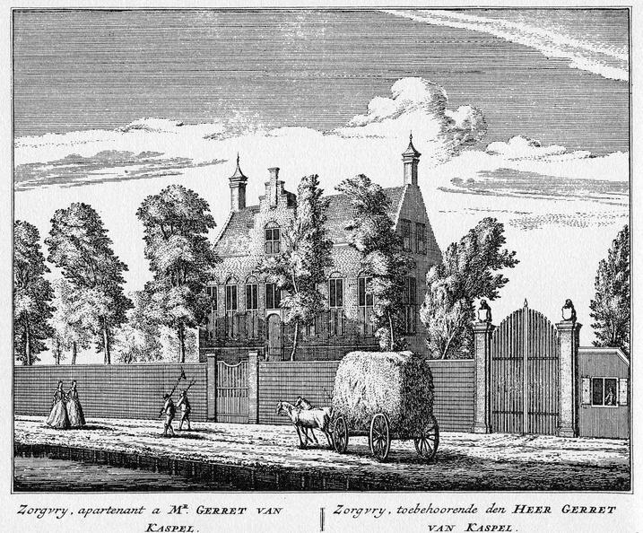 Baambrugge-Sorgvrij - ets Abraham Rademaker, 1730 - HOL1