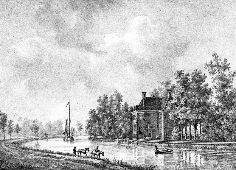 Breukelen Vrede en Rust - gravure PJ Lutgers ca 1836 - GE2