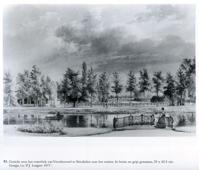 Breukelen Vreedenoord - waterhek - tekening PJ Lutgers, 1871 - GE4