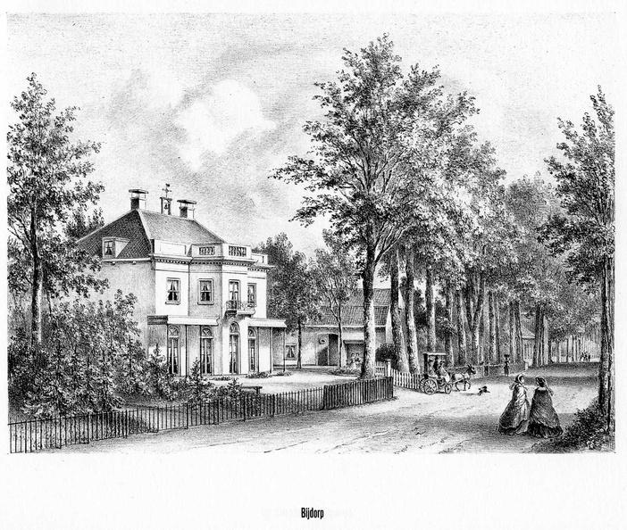 Driebergen Bijdorp - litho PJ Lutgers, 1869 - GEZ2