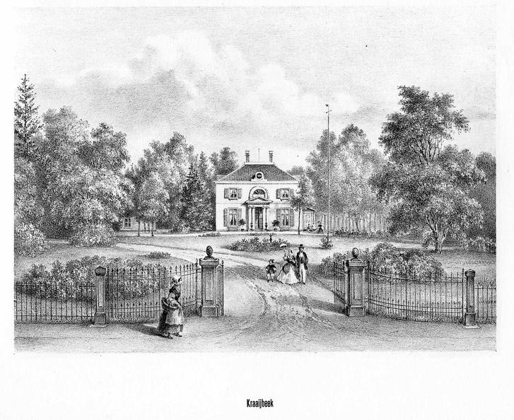 Driebergen Kraaybeek - litho PJ Lutgers, 1869 - GEZ2