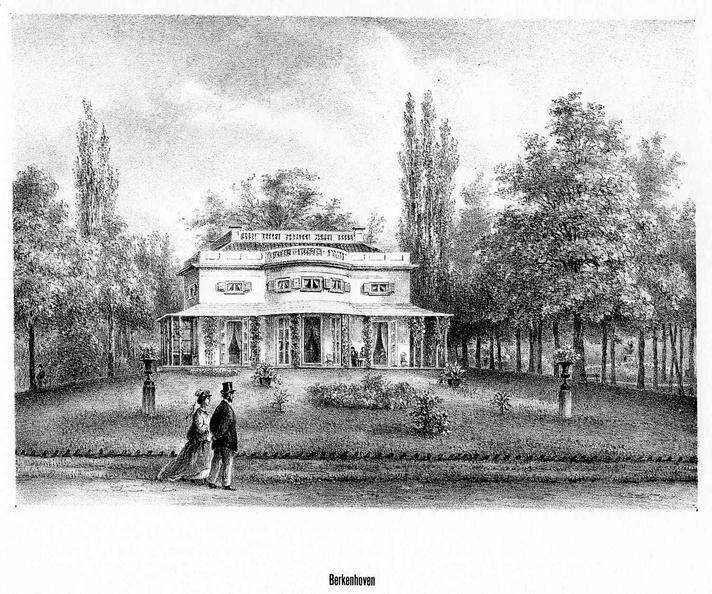 DeBilt Berkenhoven - litho van PJ Lutgers, 1869 - GEZ2