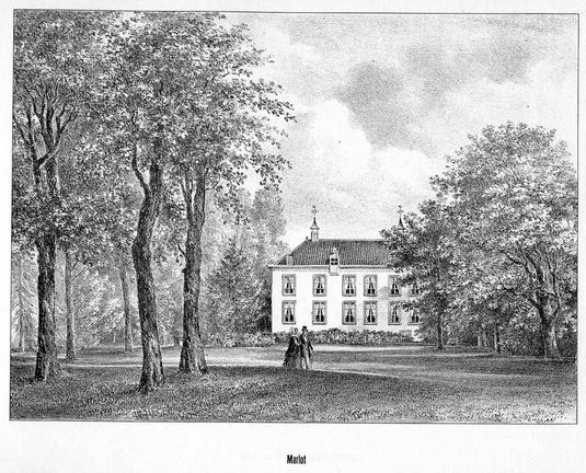 DenHaag Marlot - gravure P.J.Lutgers, ca 1856 - GEZ1