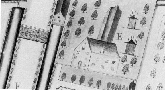 DenHaag Marlot - tekening landmeter A Quack, 1699 - DE3