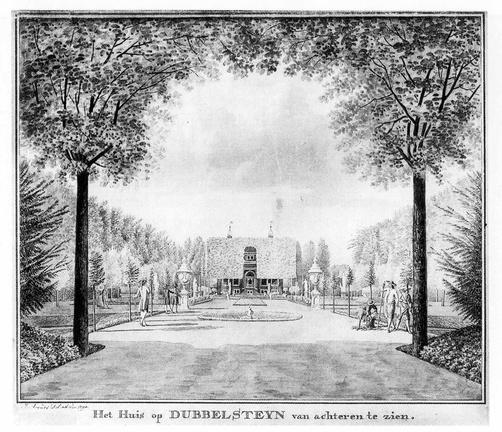 Dordrecht Dubbelsteyn - tekening J Arends 1790 - HET01