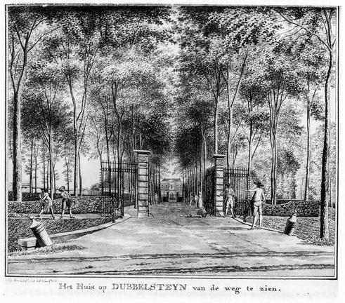 Dordrecht Dubbelsteyn - tekening Jan Arends 1790 - HET01