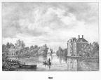 Leiden Rhijnhof - gravure P.J.Lutgers, ca 1856 - GEZ1