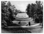 Leiden Vreewijk - tuin - lithografie T Hooiberg, 1851 - DE5