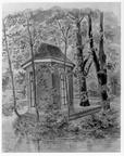 Leiden Zuiderzicht - theekoepel, tekening JE Kikkert, 1918 - DE5