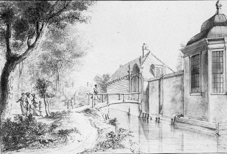 DenHaag Carolinenburg - tekening P C la Fargue 1756 - HE1