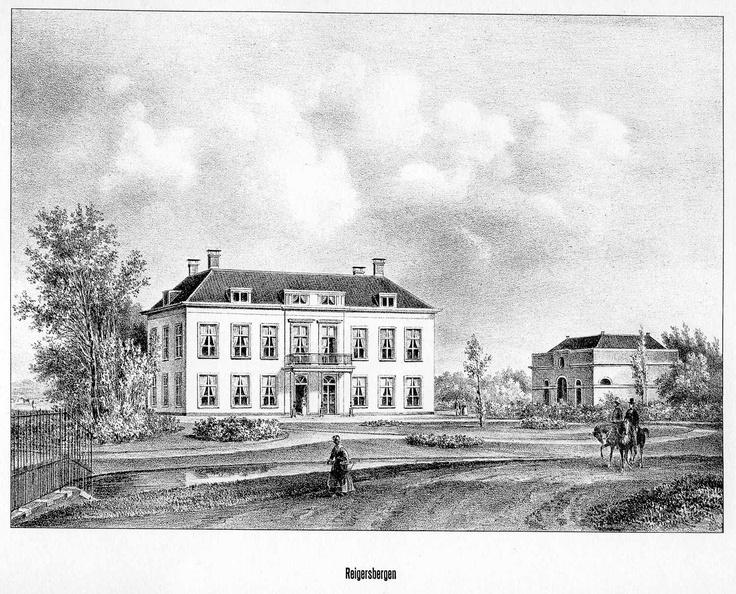 DenHaag Reigersbergen - gravure P.J.Lutgers, ca 1856 - GEZ1