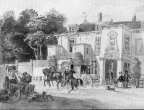 DenHaag Rustenburg - aquarel door HW Last 1848 - HU1