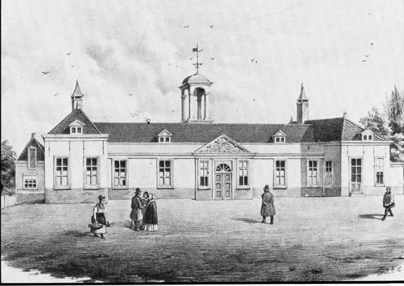 DenHaag Sorghvliet - litho uit de 19e eeuw - HU1