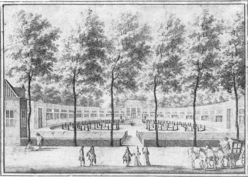 DenHaag Zorgvliet - tekening J van Call ca 1690 - orangerie - HE1