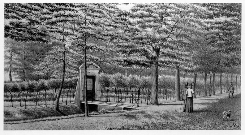 Leiden Groenhoven - toegangshek, tekening JMA Rieke, 1897 - DE5
