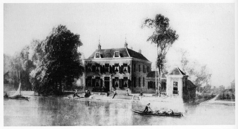Leiden Rhijnvreugd - schilderij AEA van Bylandt, ca 1880 - DE5